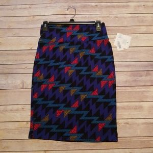 Colorful triangular pattern LuLaRoe Cassie skirt
